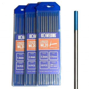 2% Lanthanated [WL20] Tungsten Electrodes 1.6mm/2.4mm/3.2mm | BLUE