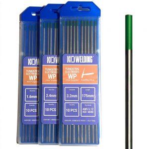 Pure Tungsten [WP] Tungsten Electrodes 1.6mm/2.4mm/3.2mm | GREEN