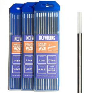 0.8% Zirconiated [WZ8] Tungsten Electrodes 1.6mm/2.4mm/3.2mm | WHITE