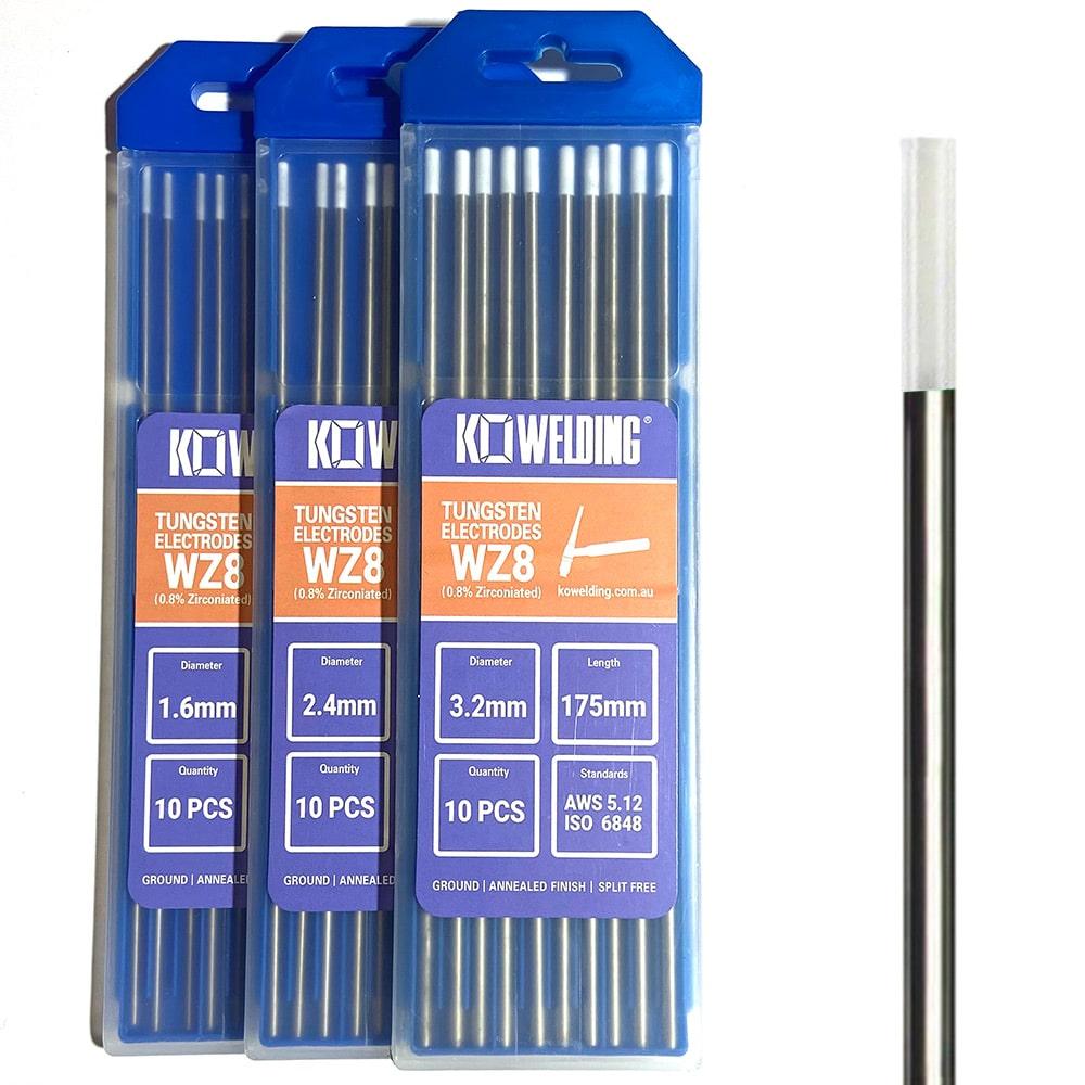 0.8% Zirconiated White Tungsten Electrode for TIG Welding