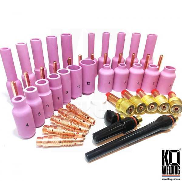 50PC TIG Cup Kit for WP 17,18,26 TIG Torches