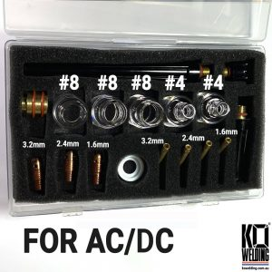 AC/DC | LUX Pyrex Stubby KIT for 1.6mm/2.4mm/3.2mm Tungstens