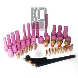 9/20 Series | Long Nozzle Stubby TIG Kit | 46 PCS