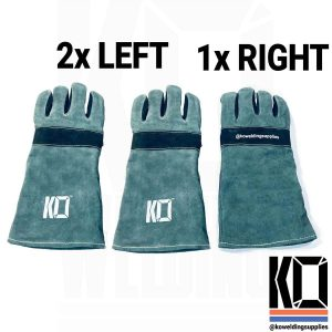 KO Kevlar Stitched MIG Gloves – 2 x LEFT 1x RIGHT pack.