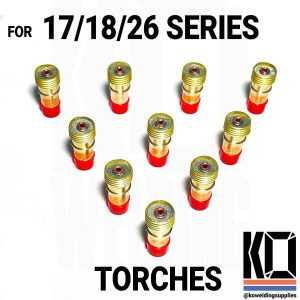 10 x Gas Lens Converter Pack | RUN 9/20 CUPS on 17/18/26 TORCHES