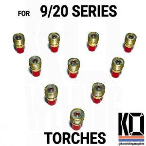 10 x Gas Lens Pack – 9/20 Series