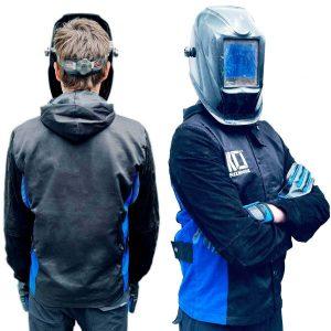 FlexHoodie™ – Lightweight Hide & Cotton Pro Breathable Hooded Welding Jacket