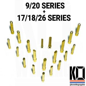 10x Brass Wedge Collet Pack | All Size Torches | 1.6mm/2.4mm/3.2mm