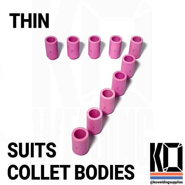 number 7 thin tig cup